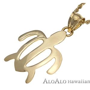 ハワイアンジュエリー ネックレス ペンダント トップ 14K ゴールド ホヌトップ メンズ レディース ホヌ イエローゴールド
