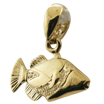 ハワイアンジュエリー ネックレス ペンダント トップ 14K ゴールド ミニフムフムヌクヌクアプアアトップ ハワイアン メンズ レディース ハワイ州魚 ハワイ製