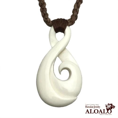 バグヌート ボーンカーヴィング ツイスト 本格ポリネシアン 手彫りのボーン