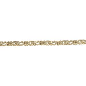 ハワイアンジュエリー ブレスレット 14K ゴールド 透かしハワイアンスクロールブレスレット メンズ レディース ゴールド