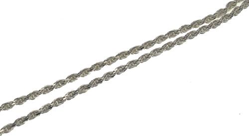 ハワイアンジュエリー ネックレス チェーン 2mm 太めのシルバー ロープチェーン 40cm メンズ レディース シルバー925