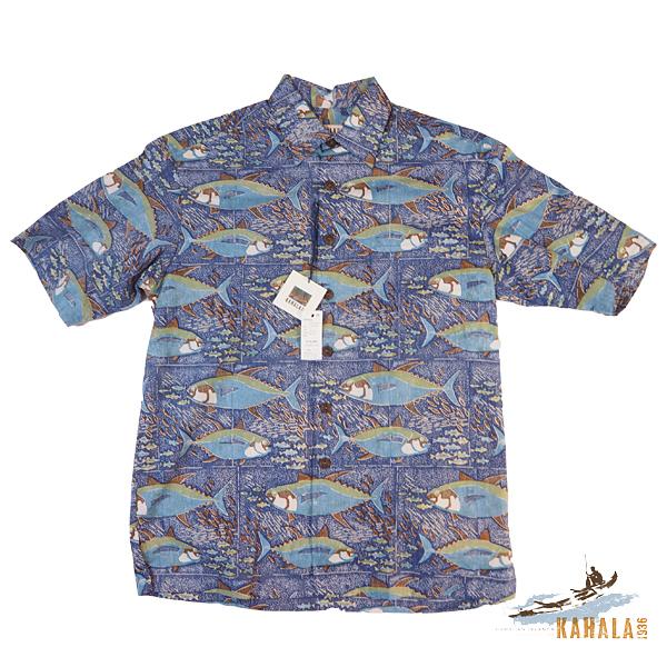 20%OFF Kahala 【カハラ アロハシャツ】 本物のメイドインハワイアロハブランド フィーディングアヒ ネイビー