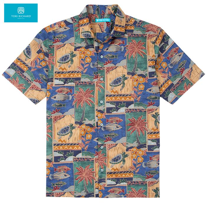 【トリリチャードのアロハシャツ】 レギュラーサイズ 本物のメイドインハワイアロハブランド マルキーズ