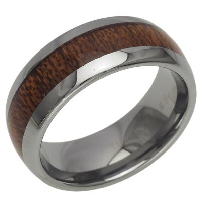ハワイアンジュエリー ペアリング 指輪 8mm コアウッド バレルリング メンズ レディース 刻印 タングステン ハワイアン コアウッド 9号-21号