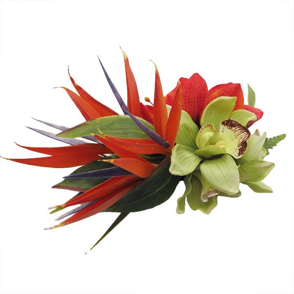 お花のアレンジ等承ります 安心の定価販売 ハワイアン フラワー ヘアクリップ 本店 アマリリス ストレチア フラ用品 ハンドメイド