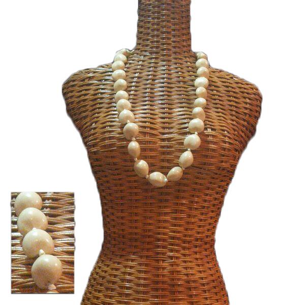 ハワイで実際に使われている本格フラ用レイ ハワイアンレイ ハワイアン レイ 通販 フラ フラワーレイ フラダンス衣装 受賞店 ククイレイ アイボリー