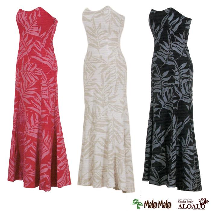 フラ ハワイアン ドレス ワンピース マカマカ カイラコレクション ラウアエ ダンスウェア レディース 3カラー