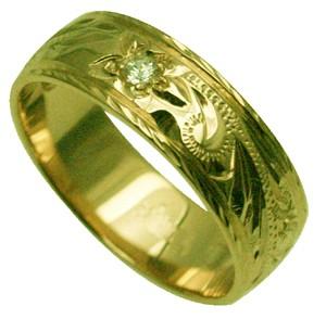 【刻印無料 ギフトラッピング無料】安心の1.5mm厚 14金グリーンゴールド本格オーダーメイドリング ハワイアンジュエリー リング 指輪 オーダーメイド 1.25mm厚 幅6mm 14K ゴールド グリーンゴールド ダイヤモンド フラットリング ハワイ製 手彫りリング メンズ レディース 結婚指輪 マリッジリング ウェディングリング 2号-28号