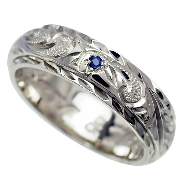 ハワイアンジュエリー リング 指輪 オーダーメイド 幅6mm 14K ゴールド 2トーンリング ダブルホワイトゴールド ハワイ製 手彫りリング メンズ レディース 結婚指輪 マリッジリング ウェディングリング 2号-28号