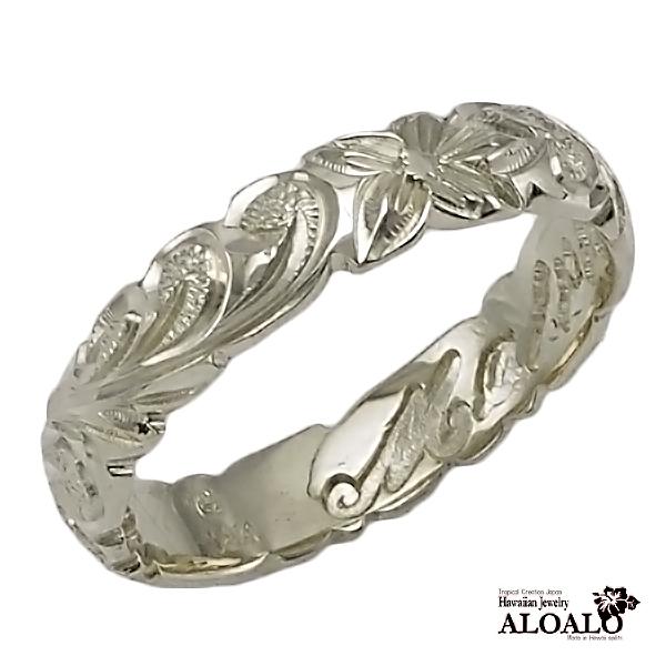 アロアロハワイアンのリングはあなただけの特別なオーダーメイドが可能です 大切な人へのプレゼント 直営限定アウトレット 自分へのプレゼントにぜひ ハワイアンオーダーの手彫りリングを ハワイアンジュエリー リング 指輪 オーダーメイド ハワイ製 手彫りリング レディース 1.75mm厚 メンズ 幅4mm スターリングシルバー925 大決算セール バレルリング