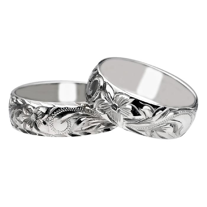 ハワイアンジュエリー リング 指輪 オーダーメイド シルバー バレル オーダーメイド ペアリング特価セット! 6mm幅 1.75mmしっかりした厚み ハワイ製 手彫りリング メンズ レディース 結婚指輪 マリッジリング ウェディングリング 2号-28号