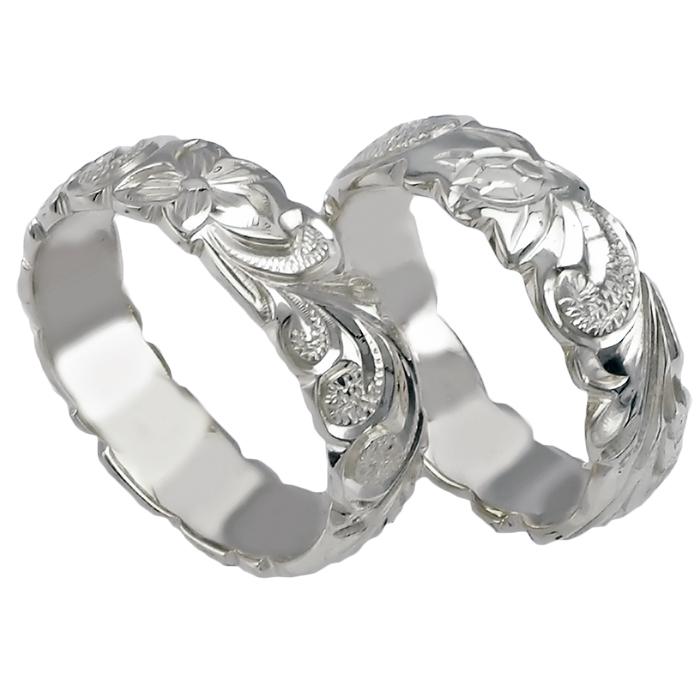 ハワイアンジュエリー リング 指輪 オーダーメイド シルバー バレル オーダーメイド ペアリング特価セット! 6mm幅 2.0mm重厚な厚み ハワイ製 手彫りリング メンズ レディース 結婚指輪 マリッジリング ウェディングリング 2号-28号