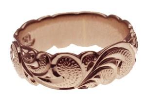 【刻印無料 ギフトラッピング無料】上品に1.75mm厚 14金ピンクゴールド本格オーダーリング ハワイアンジュエリー リング 指輪 オーダーメイド しっかりした1.75mm厚 幅8mm 14K ゴールド ピンクゴールド バレルリング ハワイ製 手彫りリング メンズ レディース 結婚指輪 マリッジリング ウェディングリング 2号-28号