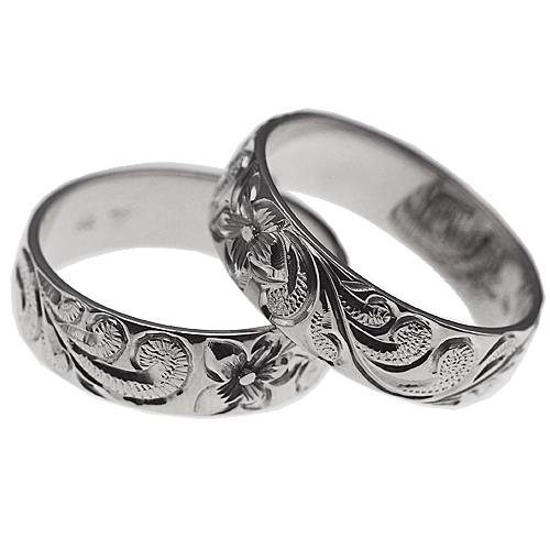 ハワイアンジュエリー リング 指輪 オーダーメイド 1.25mm厚 幅8mm プラチナ950 バレル ペアリング ハワイ製 手彫りリング メンズ レディース 結婚指輪 マリッジリング ウェディングリング 2号-28号