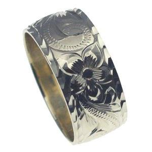 アロアロハワイアンのリングはあなただけの特別なオーダーメイドが可能です。大切な人へのプレゼント、自分へのプレゼントにぜひ、ハワイアンオーダーの手彫りリングを! ハワイアンジュエリー リング 指輪 オーダーメイド 1.75mm厚 幅10mm スターリングシルバー925 バレルリング ハワイ製 手彫りリング メンズ レディース