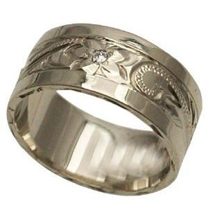 ハワイアンジュエリー リング 指輪 オーダーメイド 2.0mm厚 幅8mm フラットリング メンズ レディース シルバー925 ハワイ製 手彫りリング 0号-28号