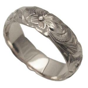 ハワイアンジュエリー リング 指輪 オーダーメイド 1.75mm厚 幅6mm バレルリング メンズ レディース シルバー925 ハワイ製 手彫りリング 0号-28号