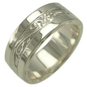 【刻印無料 ギフトラッピング無料】アロアロハワイアンのリングはあなただけの特別なオーダーメイドが可能です。大切な人へのプレゼント、自分へのプレゼントにぜひ! ハワイアンジュエリー リング 指輪 オーダーメイド 1.75mm厚 幅8mm スペシャルプレーンフラットリング メンズ レディース シルバー925 ハワイ製 手彫りリング 0号-28号