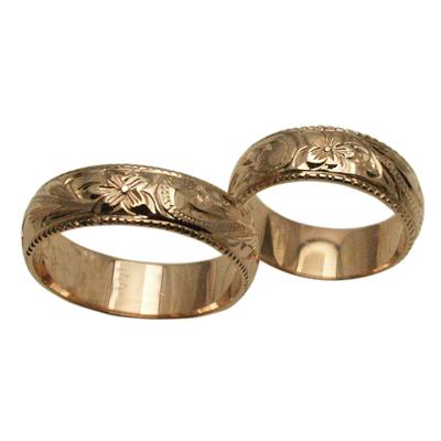 【刻印無料 ギフトラッピング無料】ペアリング 限定特価のかなりお得なリングです! ハワイアンジュエリー リング 指輪 オーダーメイド 14金バレル オーダーメイド お得なペアリング特価セット! ハワイ製 手彫りリング メンズ レディース 結婚指輪 マリッジリング ウェディングリング 2号-28号