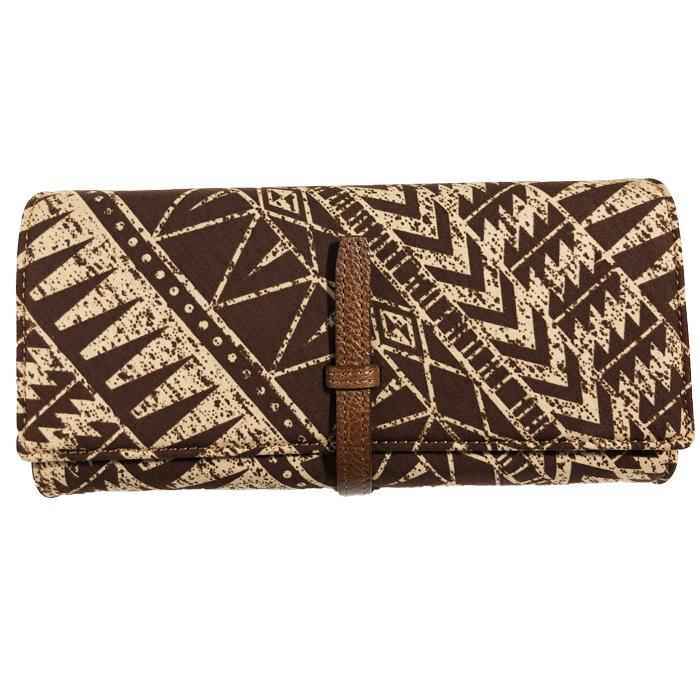 ギフトラッピング パラダイスの職人による上品なお財布です ハワイアン 新作続 財布 パラダイス アコーディオンロングウォレット ハワイアンファブリック カードが最も沢山入る仕様 革のデザイン ロングセラーの形状 高品質 長財布モデル