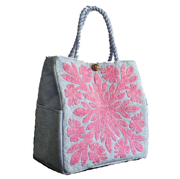ハワイアンキルト バッグ サザンフォレストのむら染め本格ハワイアンキルト 軽くて丈夫な大容量ビッグハワイアンキルト レッスンバッグ