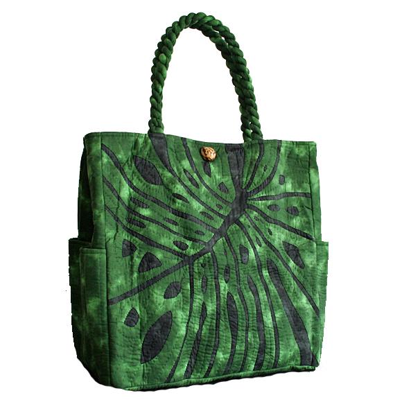 最高品質のハワイアンキルトバッグです! ハワイアンキルト バッグ サザンフォレストのむら染め本格ハワイアンキルト 軽くて丈夫な大容量ビッグハワイアンキルト レッスンバッグ