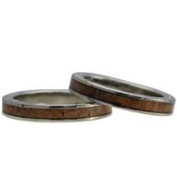 ハワイアンジュエリー リング ペアリング コアウッド チタンリング メンズ レディース 指輪 刻印 alamea ハワイアンコア 3mm 7号-21号