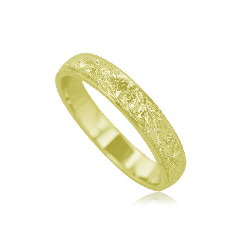 ハワイアンジュエリー オーダーメイド リング 指輪 手彫り 14K 記念日 ペアリング ペアアクセサリー ギフト 誕生日プレゼント レディース メンズ 贈り物 カップル お揃い プレゼント