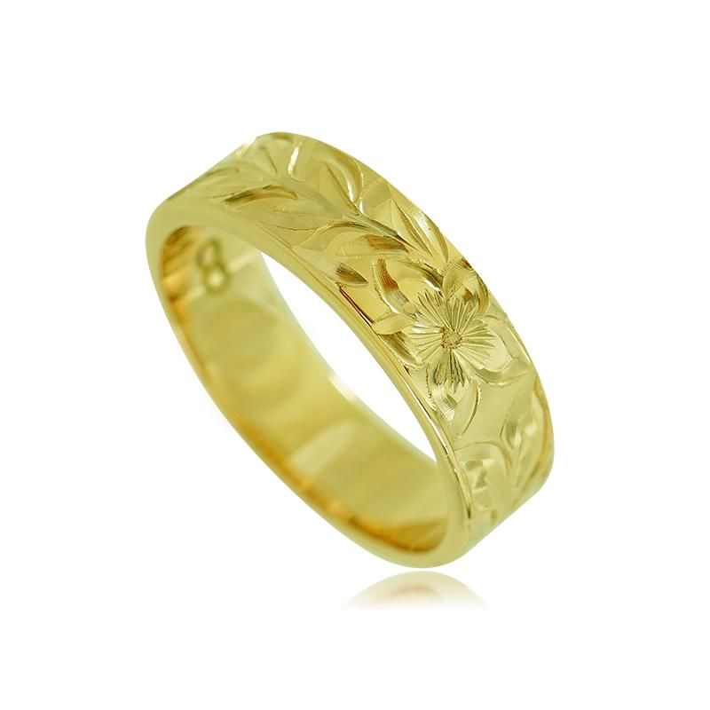 送料無料 ハワイアンジュエリー オーダーメイド リング 指輪 手彫り 14K 記念日 ペアリング ペアアクセサリー ギフト 誕生日プレゼント レディース メンズ 贈り物 カップル お揃い プレゼント