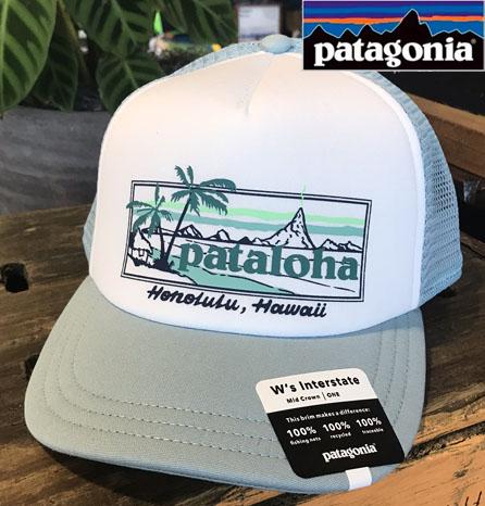 送料無料 ハワイのパタゴニア限定 Pataloha PATAGONIA パタゴニア ハワイ 信憑 パタロハ 低価格化 ハワイ直輸入 PATALOHA キャップ TRUCKER SIGN レディース HAT