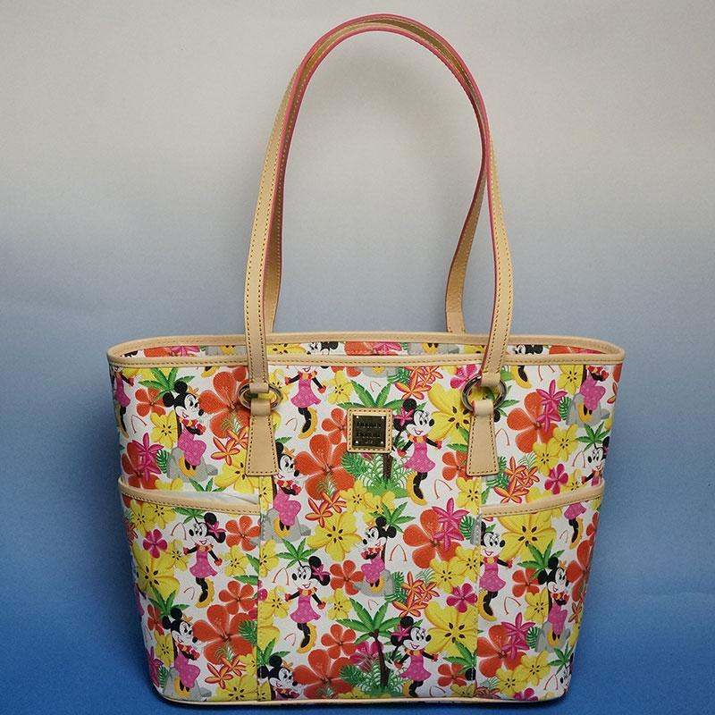 《送料無料》ハワイ限定!ディズニーディズニー Dooney&Bourke(ドゥニー&バーク)Floral Shopper フローラル・ショッパー※生産終了!在庫限り!ハワイ、アウラニ、ミッキー、ミニー 、Aulani