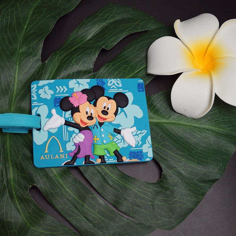 只有夏威夷 ! 可爱设计迪斯尼的奥拉尼 (奥拉尼迪士尼度假村) 迪士尼行李标签名称标签米奇老鼠及美妮老鼠。