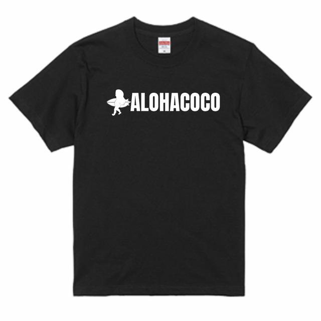 UNISEXで着用できるTシャツとなります ALOHACOCO SURF ブラック TEE 送料無料激安祭 TIME 訳あり品送料無料
