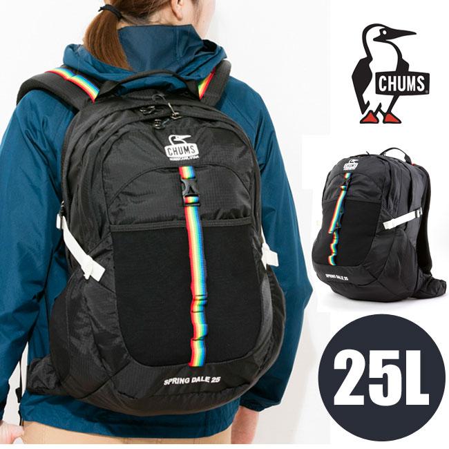 【お買い物マラソン!エントリー等でP最大38倍】チャムス アウトドア CHUMS [ Spring Dale 25L ](BLACK/BLACK) [25L]スプリングデール25 バーベキュー キャンプ バッグ バック CH60-2216