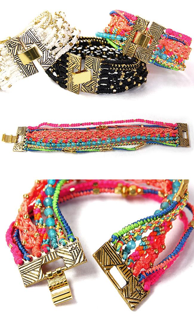 ワカミ wakami bracelet oar one 7 strand bracelet [WA9877 /WA9878/ WA9879] [shipment]