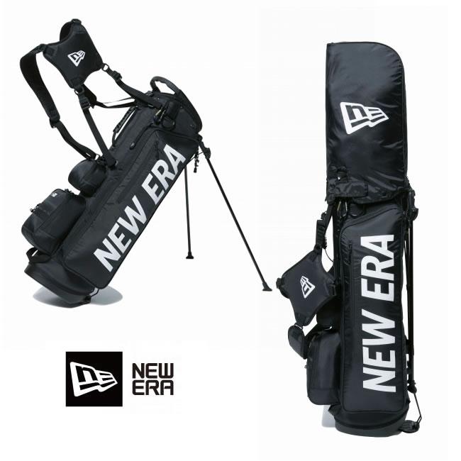 【お買い物マラソン!エントリー等でP最大38倍】ゴルフバック ニューエラ NEW ERA ゴルフ golf Stand Caddie Bag (BLK/WHT) 11901502 キャディーバッグ newera フルセット用