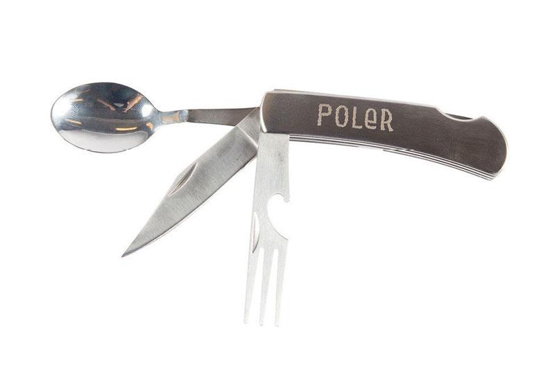 폴라-캠프 스푼 포크 나이프 POLER 만능 나이프 식기 아웃도어