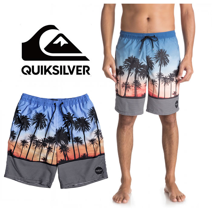 761e35d006 Quick silver board shorts sea Bakery QUIKSILVER [EQYJV03302] SUNSET VIBES  VOLLEY surf trunks surf ...