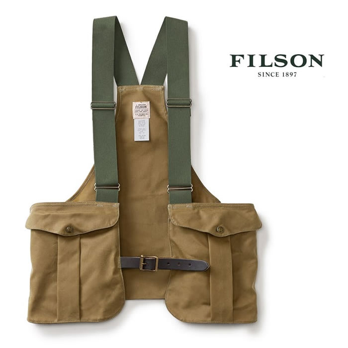 フィルソン Filson [ #16017 ] TIN GAME BAG (TAN) ツールケース ゲームティンバッグ フィッシングベスト [0606]