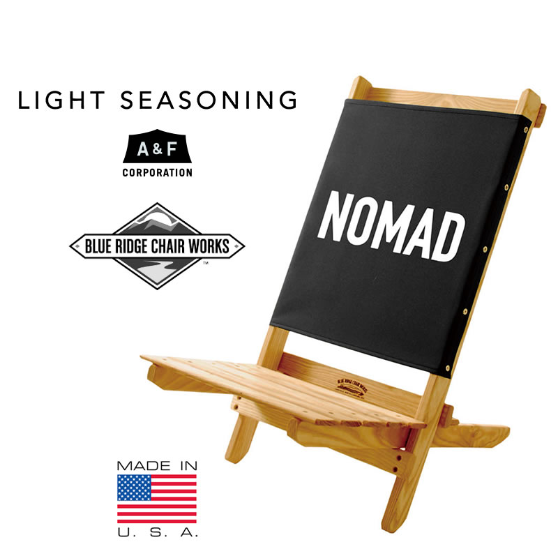 ブルーリッジチェアワークス アウトドアチェア USA【SPS06】 Blue made Ridge Works Chair Works (BK NOMAD) LS フェスティバルチェア with ボトルオープナー ライトシーズニング A&F エーアンドエフ LIGHT SEASONING made in USA【SPS06】, 大河原町:b44134b6 --- data.gd.no