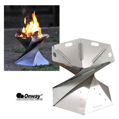 オンウェイ ONWAY [OW-3833] 聖火焚き火台 アウトドア 折り畳み [0905]