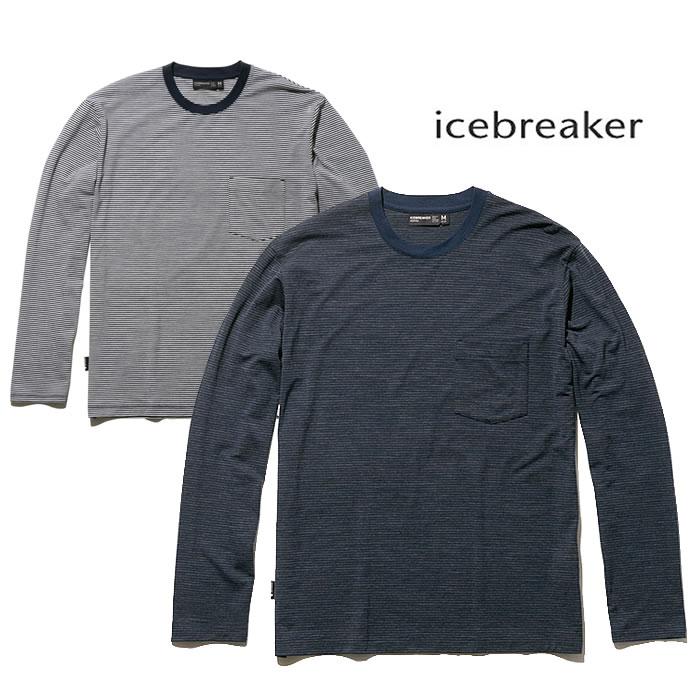 アイスブレーカー 長袖カットソー Icebreaker [ IT11874 ] M's LUXE LITE LS リュクス ライト ロングSL ポケット クルー ストライプ [0305]