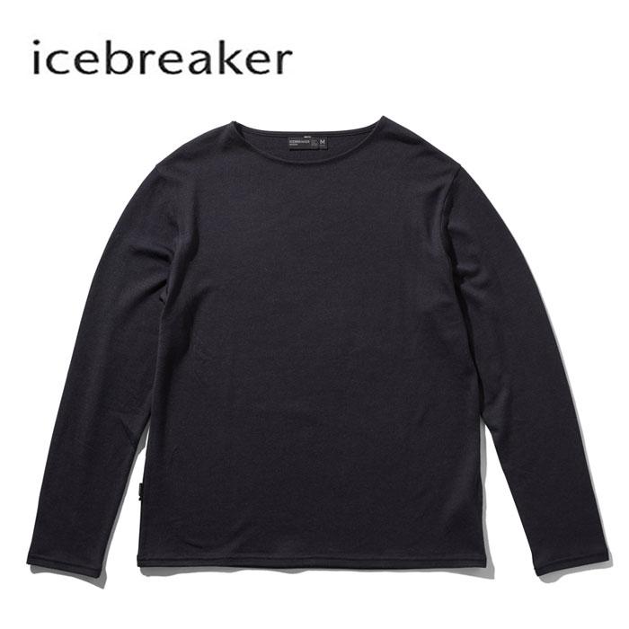 アイスブレーカー メリノウール ボートネック icebreaker [ IT61974 ] M DEICE BOAT NECK ディアイス ロングスリーブ ボートネック [0904]