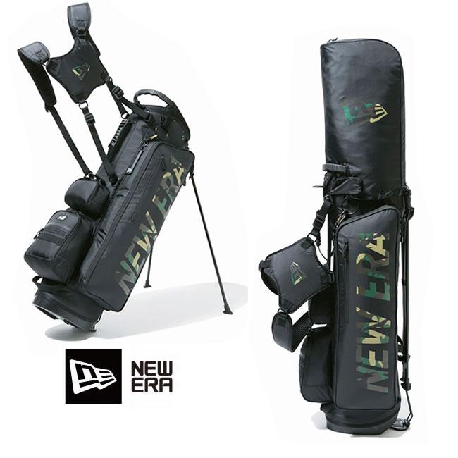 ゴルフバック ニューエラ NEW ERA ゴルフ golf Stand Caddie Bag (W.CAMO/BLK) 12325911 キャディーバッグ newera フルセット用