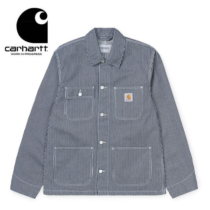 カーハート ダブリューアイピー カバーオール Carhartt WIP [ MICHIGAN COAT (I027976) ] BLUE/WHT ヒッコリーストライプ ジャケット アウター [0330]