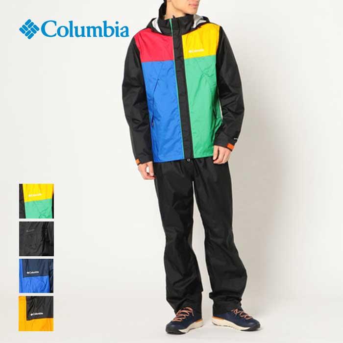 ジャケット レインスーツ メンズ 防水 上下セット Rainsuit 【マラソン全品P5倍~】コロンビア Sanctuary Columbia PM0126 レインウェア Simpson ll [200905] パンツ