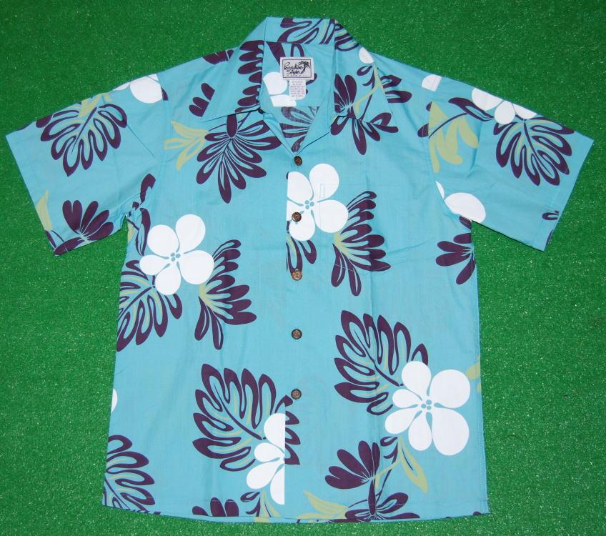 リラックス感満点だね クラシカル風味のアロハシャツ アロハシャツ メンズ PARADISE STYLE パラダイス セールSALE%OFF スタイル PSS010 半袖 サックスブルー ハワイアンフラワー柄 開襟 水色 青 ハイビスカス モンステラ 買物 花柄 送料無料 オープンカラー コットン35%ポリエステル65%