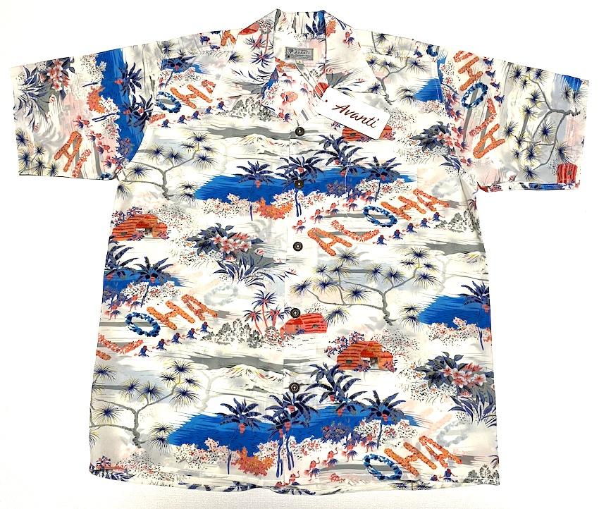 ロイヤルハワイアン| (オープンカラー) | シルク100%| ハワイ| メンズ|レンガ色| (アヴァンティ シルク) ヴィンテージレプリカ| A1173RD| 飛行機| 開襟 アロハシャツ| AVANTI SILK ホノルル| 送料無料商品 | カメハメハ大王| リゾート| 半袖|