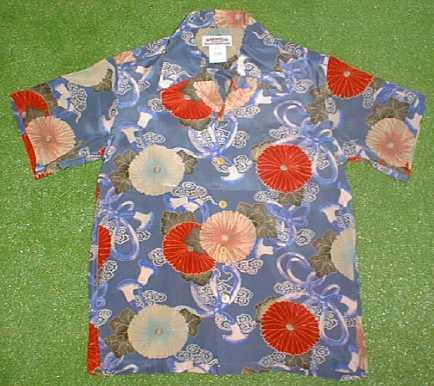 古風な菊が逆に新しいアロハシャツ 半袖アロハシャツ MAKANA LEI マカナレイ AMT015B ブルー 青 花 オープンカラー 開襟 メンズ 日本最大級の品揃え 和柄 シルク100% 菊柄 送料無料商品 Seasonal Wrap入荷
