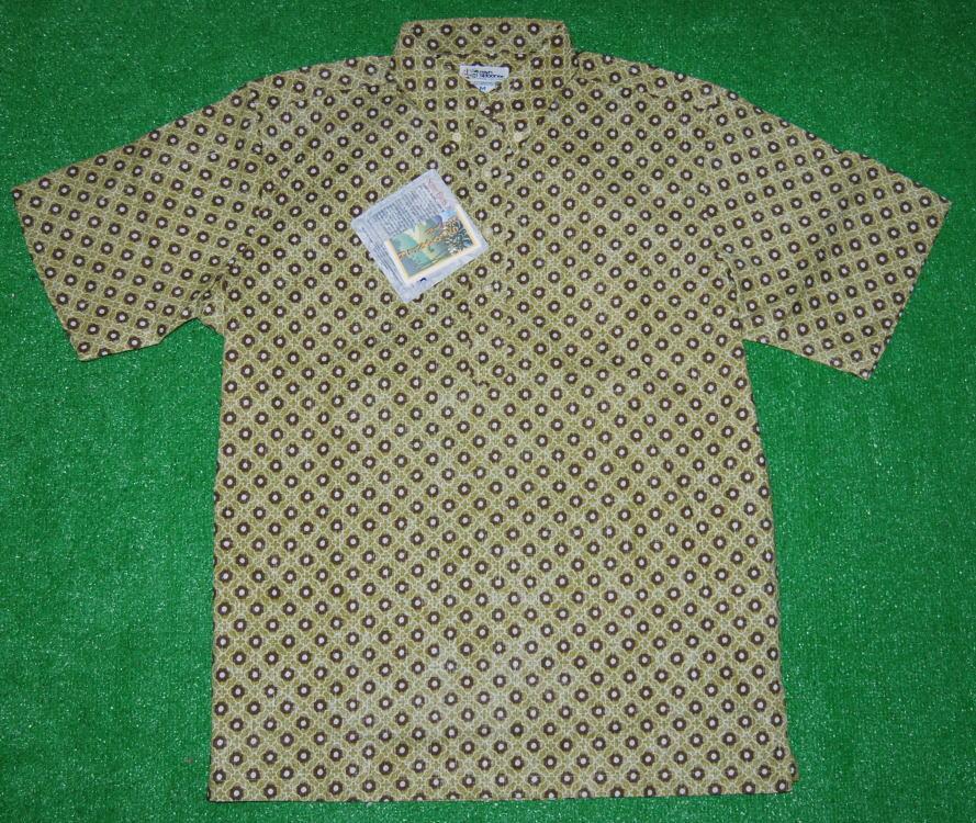 アロハシャツ REYN SPOONER(レインスプーナー) RS204 半袖 メンズ セージ コットン60%ポリ40%(スプーナークロス) 裏生地仕様 ボタンダウン(プルオーバー) 送料無料商品